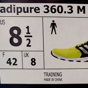 new style 41c7c 43507 adidas Shoes - Adidas Adipure 360.3 neon green Sz 8.5